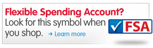 Flexible Spending Account? Look for this symbol when you shop. Learn more