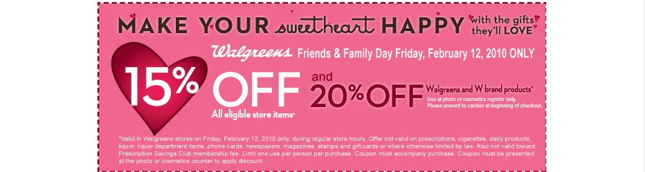 Make your sweetheart happy with gifts they'll love. Click to print coupon