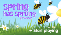 Spring has sprung giveaway. Start playing.