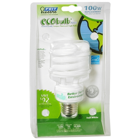 Walgreens Ecobulb Plus Soft White 100 W Compact Fluorescent Light Bulb