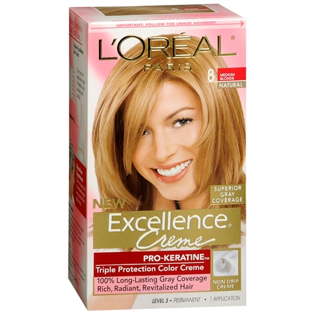 L'Oreal - Excellence Medium Blonde Triple Protection Permanent Hair Color Creme
