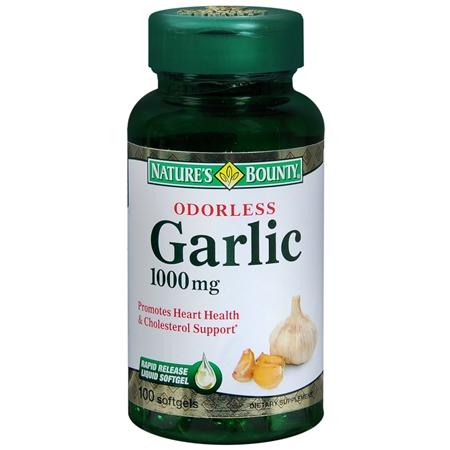 Nature's Bounty Odorless Garlic 1000 Mg Dietary Supplement Softgels