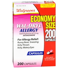 Wal-Dryl Allergy Relief Capsules