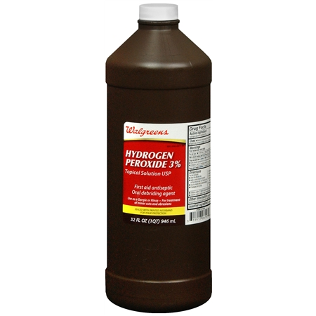 Walgreens Hydrogen Peroxide 3 Solution Antiseptic Oral Debriding Agent