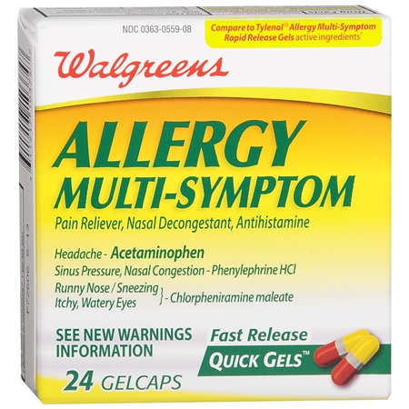 Walgreens Allergy Multi Symptom Fast Release Quick Gels