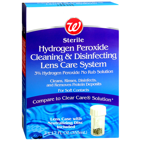 Walgreens Sterile Hydrogen Peroxide Cleaning Lens Care System