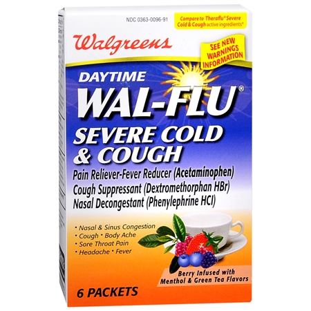 Walgreens Wal Flu Daytime Severe Cold and Cough Packets