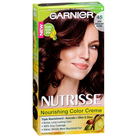 Garnier Nutrisse Darkest Brown 30 Nourishing Color Creme Permanent Haircolor