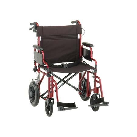 Nova 22 Inch Transport Chair With 12 Inch Rear Wheels