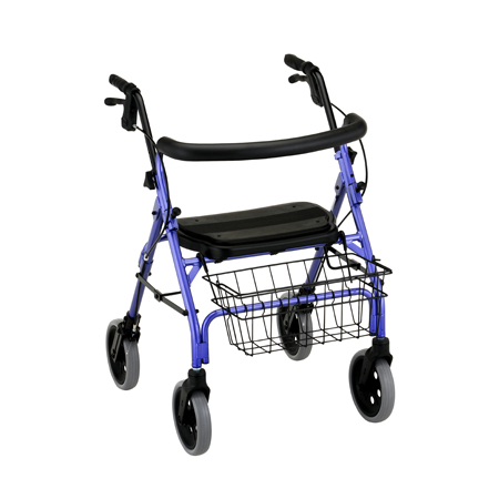 Nova Cruiser Deluxe Rolling Walker With Hand Brakes Purple, 4202P
