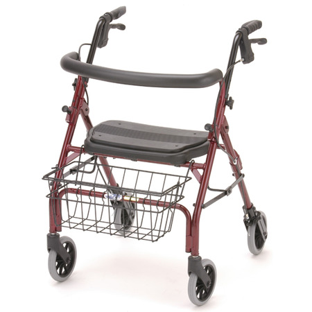 Nova Cruiser Deluxe Jr. Rolling Walker With Hand Brakes Red,