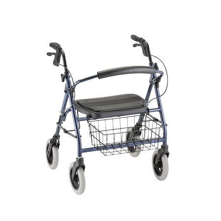 Nova Mini Mack Heavy Duty Walker With Hand Brakes Blue