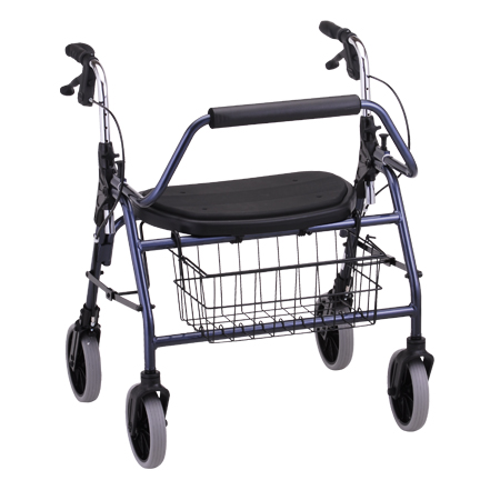 Nova Mighty Mack 600Lb Walker With Hand Brakes 4216Bl