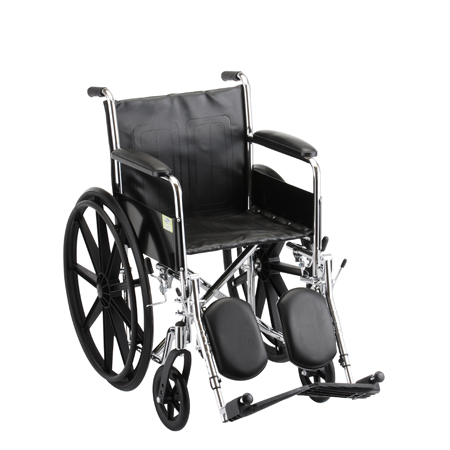 Nova 18 Inch Steel Wheelchair Fixed Arms And Elevating Leg