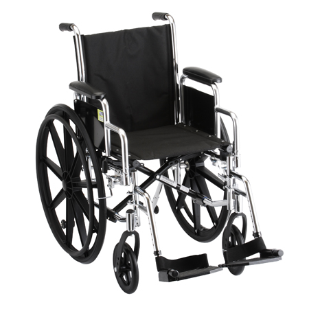 Nova 16 Inch Steel Wheelchair With Detachable Desk Arms And