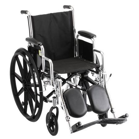Nova 16 Inch Steel Wheelchair With Detachable Arms And Elevating