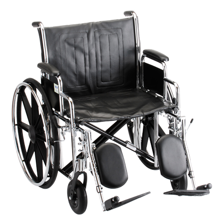 Nova 22 Inch Steel Wheelchair With Detachable Desk Arms And