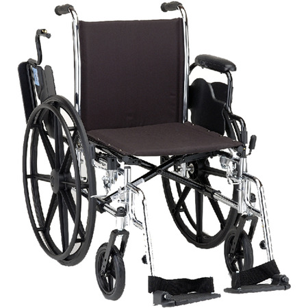 Nova Wheelchair Lightweight With Removable Flip Backdesk Arms And Swingaway Footrests
