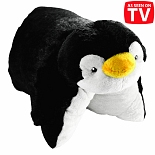 Pillow Pets 18 Inch Folding Stuffed Animal - Perky Penguin As Seen On TV