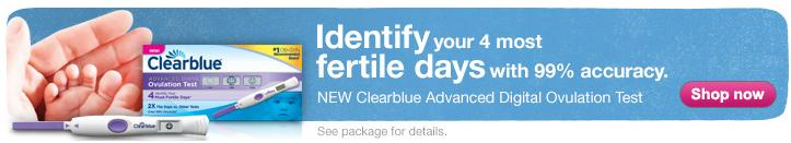 Identify your 4 most fertile days with 99% accuracy. NEW Clearblue Advanced Digital Ovulation Test.