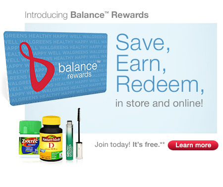 Introducing Balance Rewards. Save, Earn, Redeem. Join today! Its free.** Learn more.