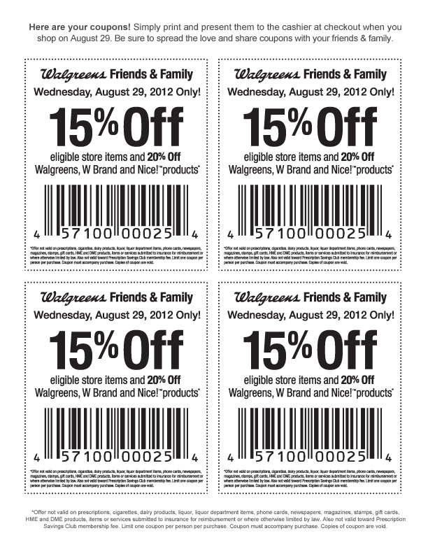 Walgreens Coupon March 2017 15% off and more Wednesday at Walgreens, or online via checkout promo FAMILY15