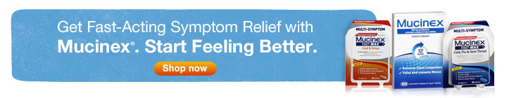 Get Fast-Acting Symptom Relief with Mucinex. Start Feeling Better. Shop now.
