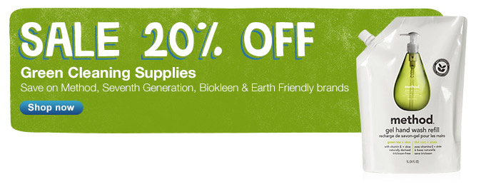 Green Cleaning Supplies Sale 20% OFF. Shop now.