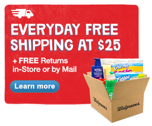 Everyday Free Shipping at $25 + FREE Returns in-Store or by Mail. Learn more.