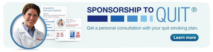 SPONSORSHIP TO QUIT. Get a consultation with your quit smoking plan. Learn More.