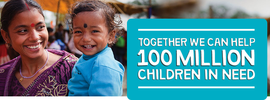 Together we can help 100 million children in need