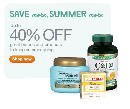 Up to 40% OFF great brands and products to keep summer going. Shop now.