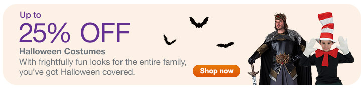 Up to 25% OFF Halloween Costumes. Shop now