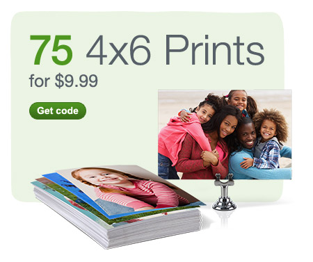 75 4x6 Prints for $9.99. Get code.