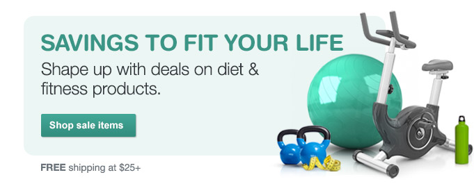 Weekly deals on diet & fitness. Shop sale items. FREE shipping at $25+.