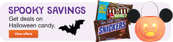 Spooky Savings. Great Deals on Halloween Candy. View offers.