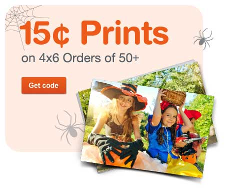 15 Cent Prints on 4x6 Orders of 50+. Get code.