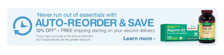 Auto-Reorder & Save 10% OFF* + FREE shipping starting on your second delivery. Learn more.