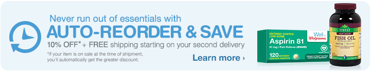 Auto-reorder & Save. Learn more.