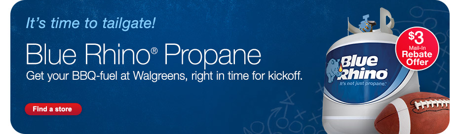 Blue Rhino(R) Propane. $3 Mail-In Rebate Offer. Find a Store.