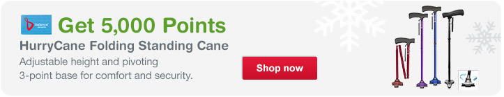 HurryCane Folding Standing Cane. Get 5,000 Points. Shop now.