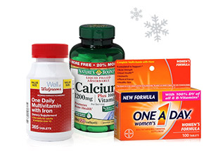 Vitamins and Supplements from Nature's Bounty, One A Day, and more