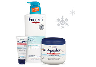 Eucerin and Aquaphor Skin Care Products