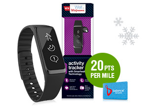 Walgreens Activity Tracker. 20pts Per Mile.