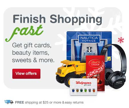 Get gift cards, beauty items, sweets & more. Free shipping at $25. View offers.