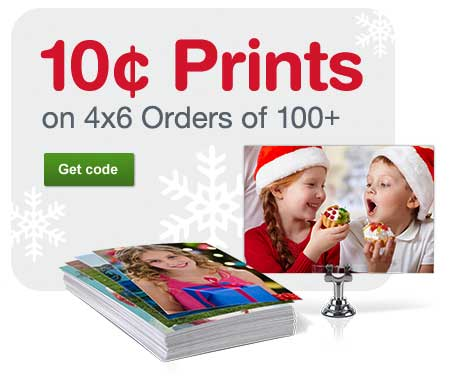 10 Cent Prints on 4x6 Orders of 100+. Get code.