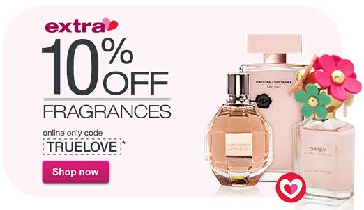 Extra 10% OFF Fragrances with online only code TRUELOVE.* Free shipping at $25. Shop now.