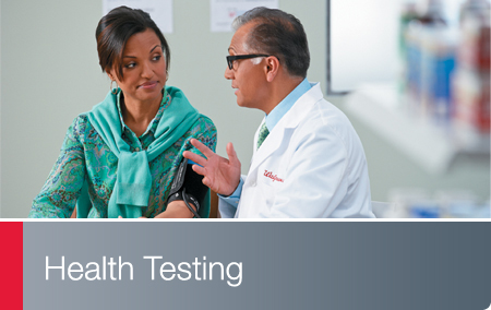Health Testing - Walgreens pharmacist meeting with patient