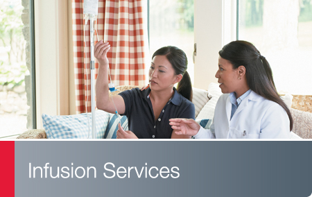 Infusion Services - Walgreens nurse meets with infusion patient in home setting