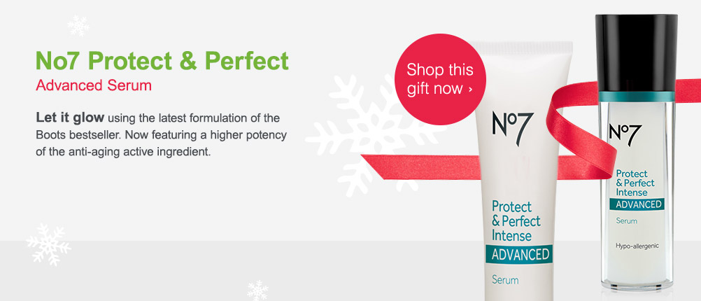 No 7 Protect & Perfect Advanced Serum. Shop this gift now.
